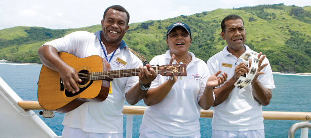 Traditional Fiji welcome on Captain Cook Cruises