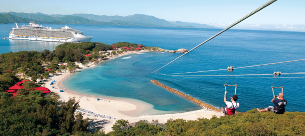 Zip-lining in the Caribbean