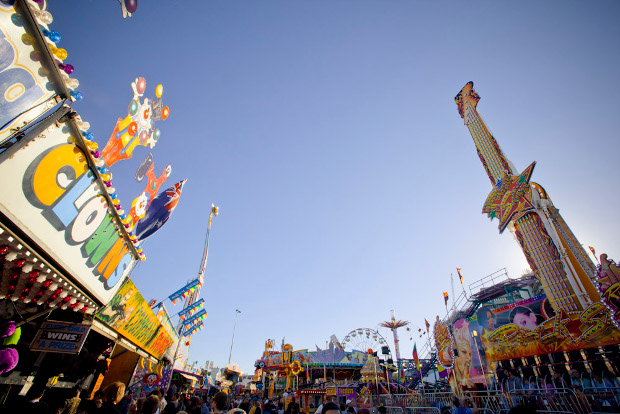 Sideshow Alley at the Royal Queensland Show - otherwise known as The Ekka - in Brisbane.