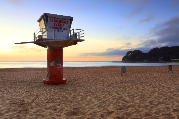 Sunrise at Avoca Beach in New South Wales
