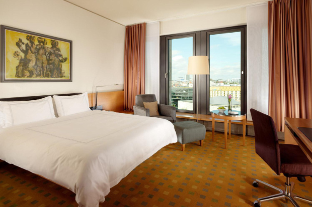 The interior of a room at the Swissotel Berlin