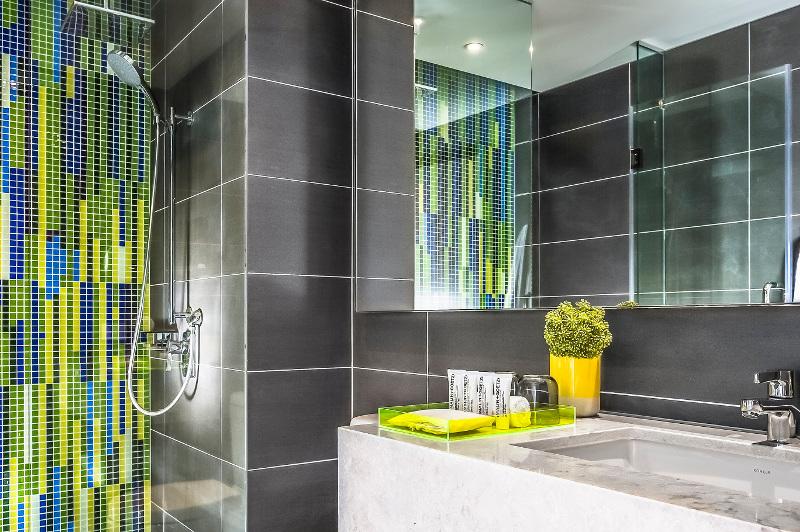 The bathroom at the Capri hotel in Brisbane