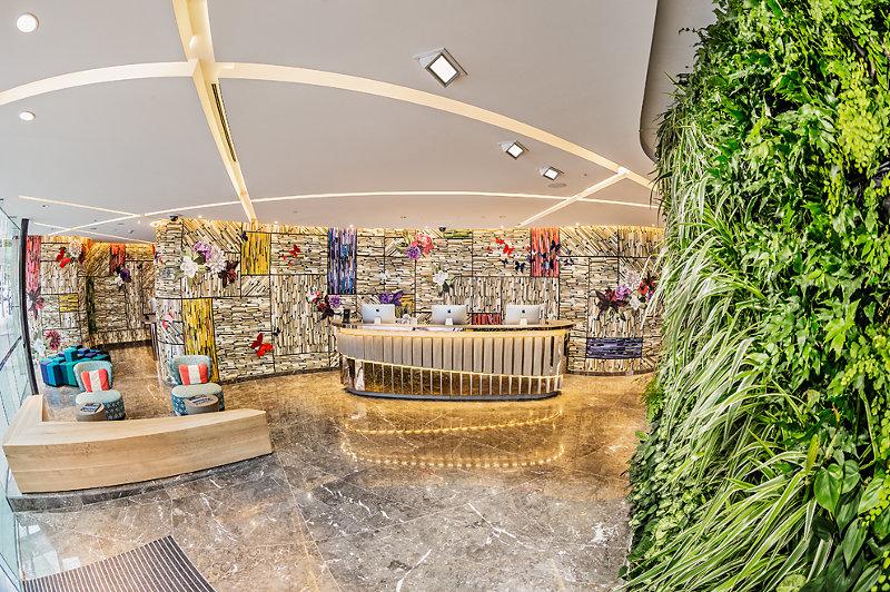 The lobby of the Capri hotel in Brisbane