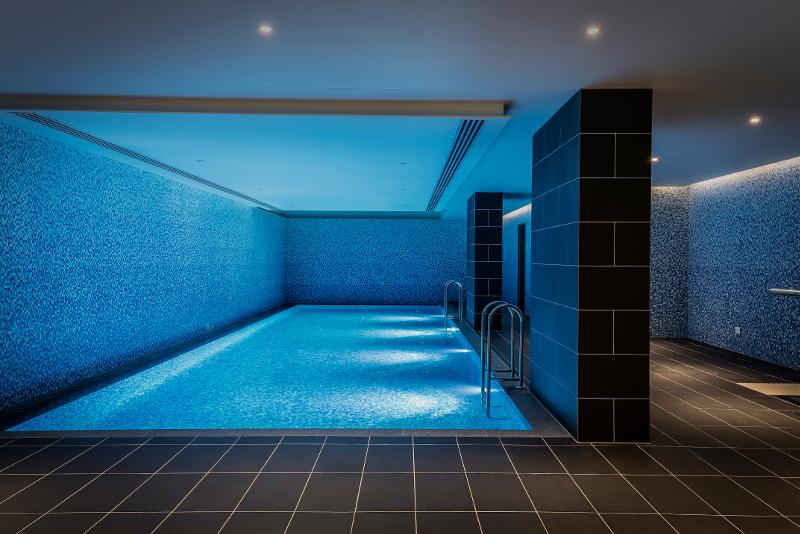 The pool at the Capri hotel