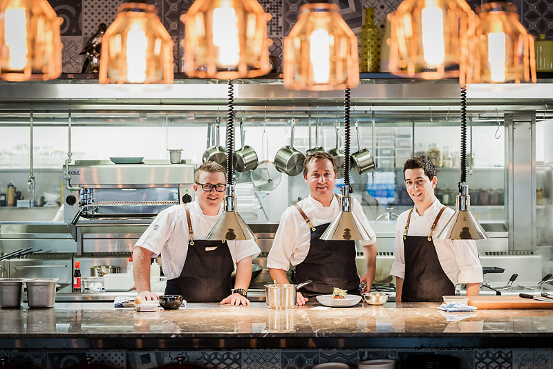 The kitchen at Asana by Pete Evans
