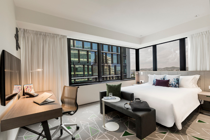 The interior of a room at the Capri hotel in Brisbane