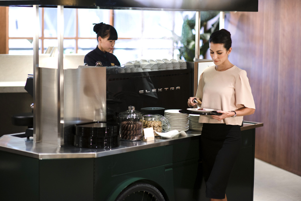 The coffee stall at Cathay Pacific's The Pier