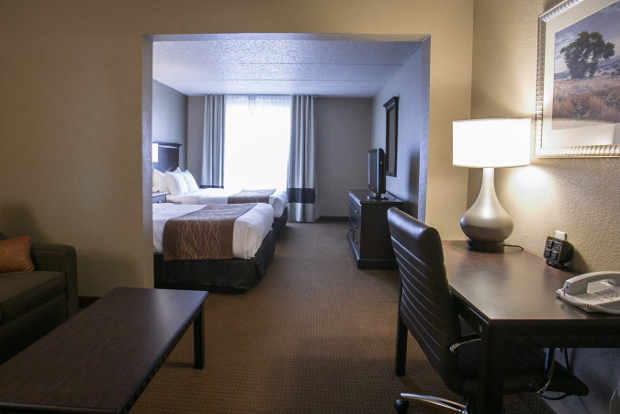 A look at the interior of one of the suits at the Comfort Suites Austin Airport hotel