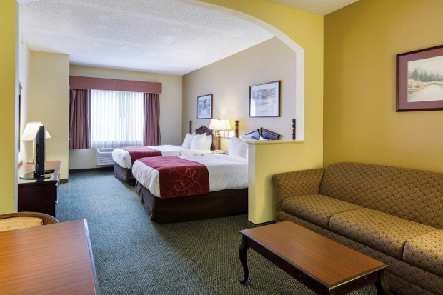 The interior of one of the rooms at the Comfort Suites