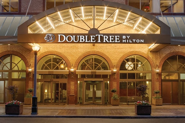 The front facade of the Doubletree by Hilton Downtown Toronto