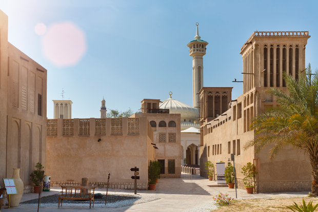 One of Dubai's historic precincts showcasing traditional architecture