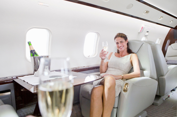 First Class flying