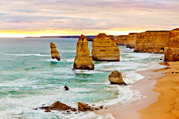A sunrise view of the 12 Apostles