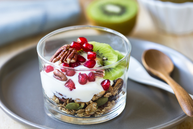 A cup of yoghurt and granola