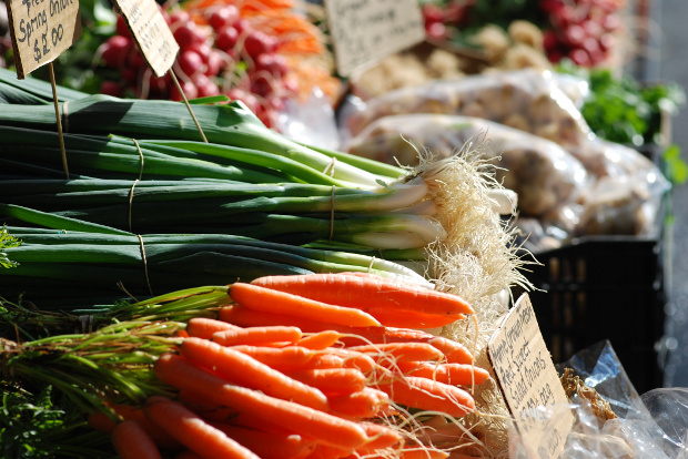 Fresh produce for sale at Hobart's Salamanca Markets.