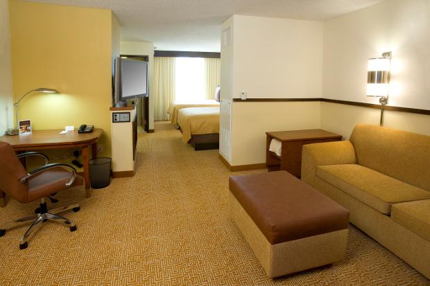 The interior of a room at Hyatt Place Las Vegas
