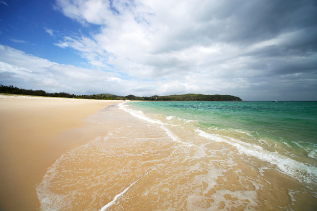 A view of the untouched beach at Great Keppel Island