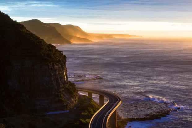 A bridge along the coastline en route from Sydney to Melbourne
