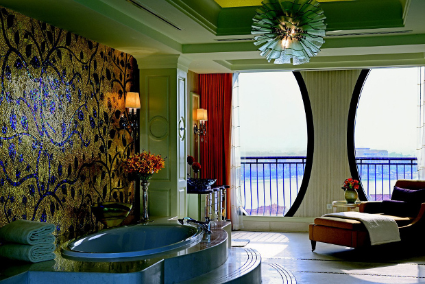 An internal view of one of the Ritz Carlton's luxurious bathrooms