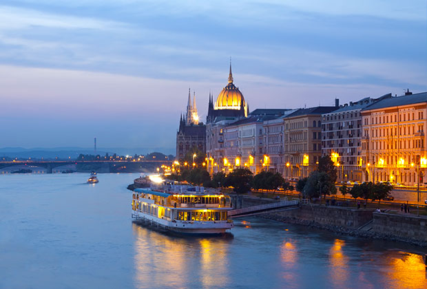 Beautiful vistas day and night in Budapest