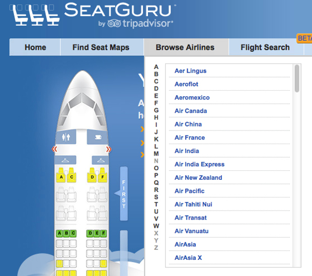 seatguru screen shot