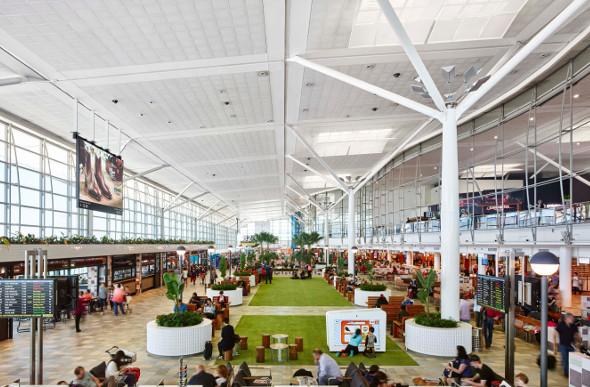 An internal view of the Brisbane International terminal