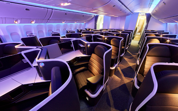 View of the new VA Business Class cabin configuration