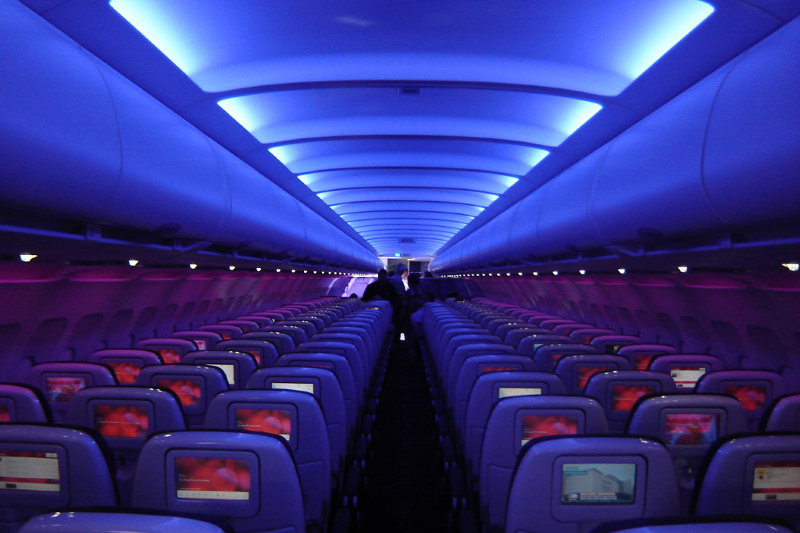 Virgin Atlantic's cabin ambient lighting