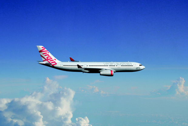 Virgin Australia aircraft in the air