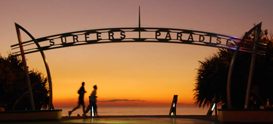Surfers Paradise: perfect for surfing, swimming or strolling