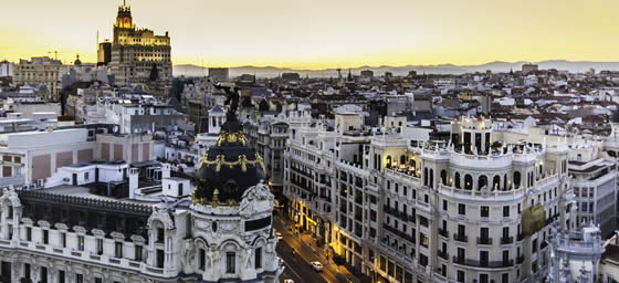 Madrid: Aerial View of the City