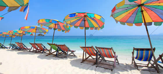 Phuket: Colorful Beach Umbrellas