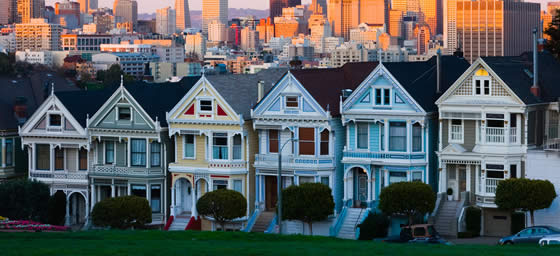 San Francisco:  Painted Ladies, Alamo Park