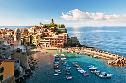 Beautiful Cinque Terre Coastline