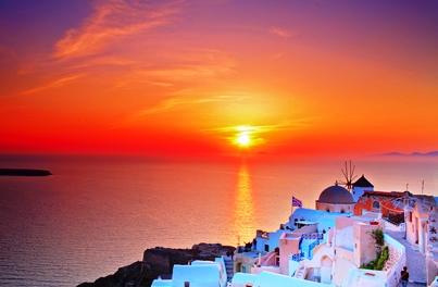 Stunning Santorini sunset