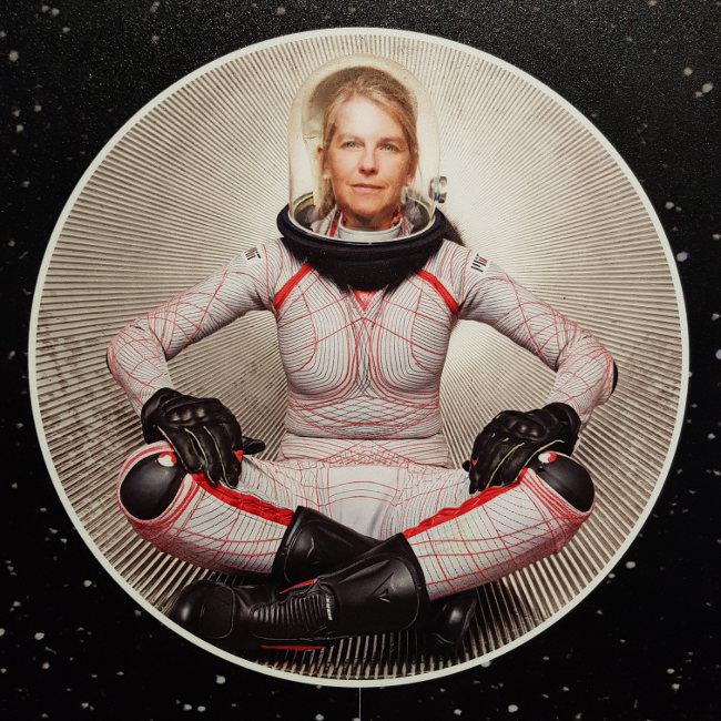 woman in space suit, Smithsonian Museum, Washington D.C.