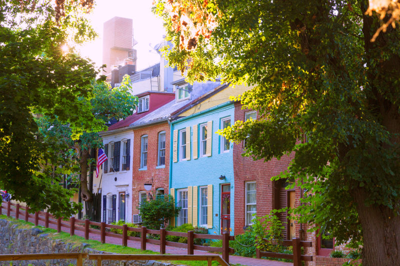 Historic homes in Georgetown, Washington D.C.