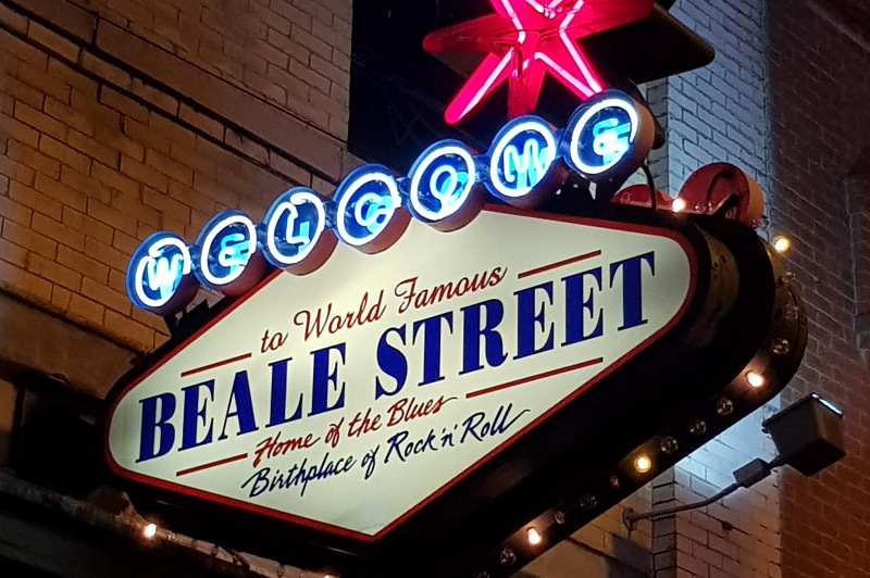 Beale Street sign, Memphis, Tennessee, USA