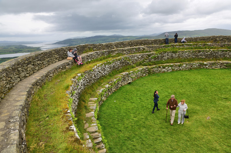 Grianan of Aileach, an ancient fort at Inishowen, County Donegal,