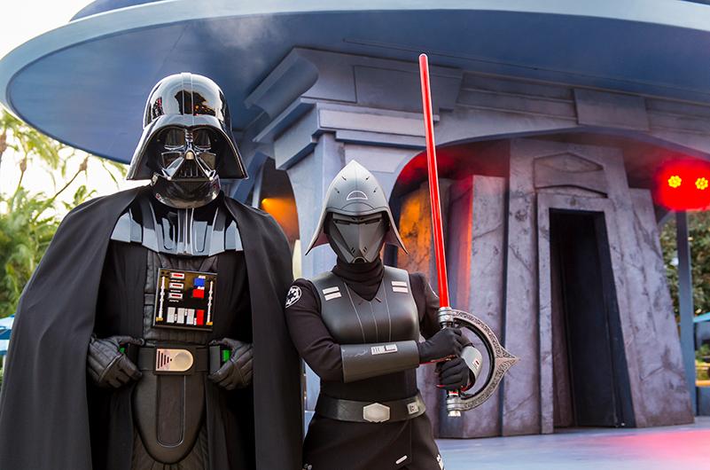 Star Wars characters at Disneyland Resort
