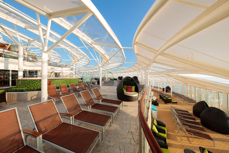 solarium onboard cruise ship