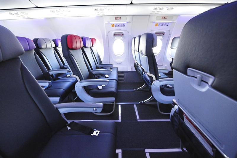 Economy X exit row seats on a Virgin Australia B737-800