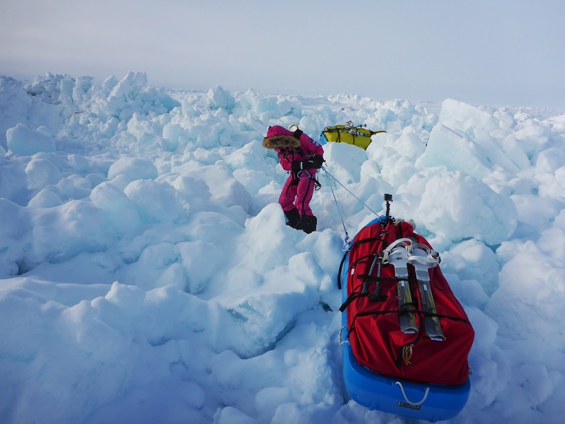 Jade Hameister on her 150 km North Pole trek which she completed in April 2016.