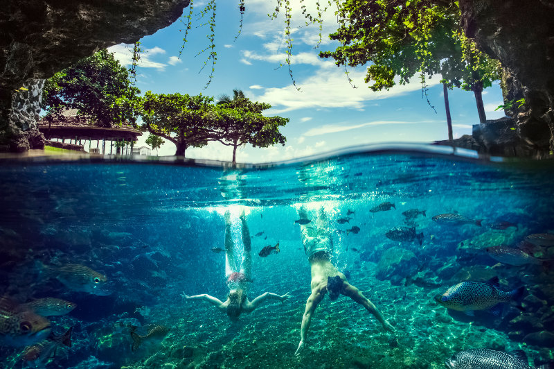 Springwater cave pools Samoa