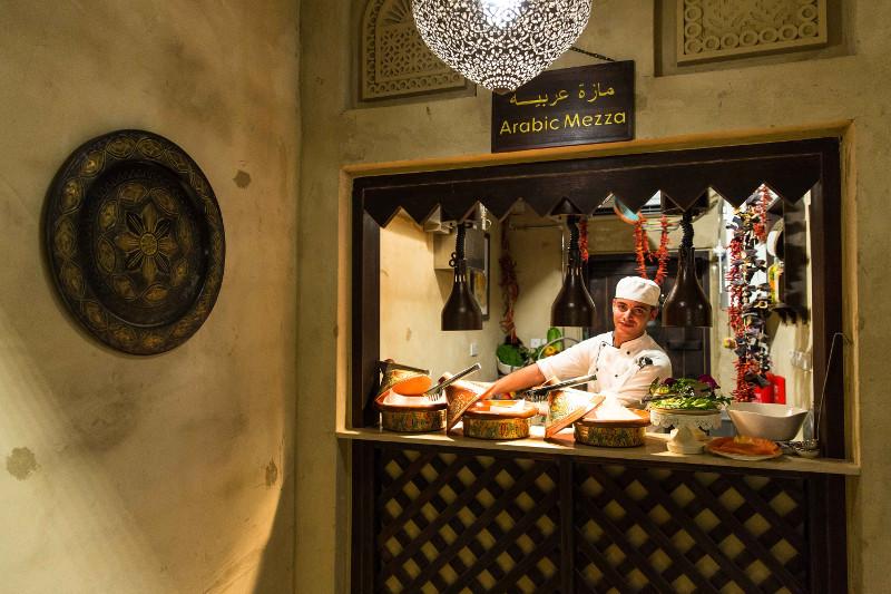 food stall inside dubai restaurant