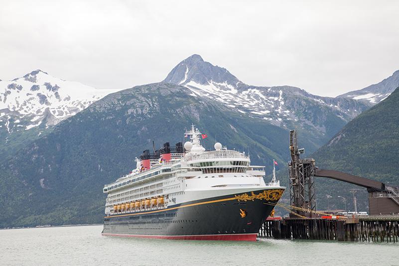 Disney Wonder cruise ship in Alaska