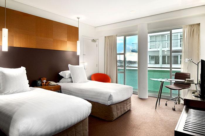 hilton auckland standard guest room