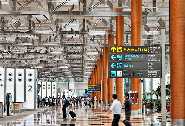 Departures Hall at Singapore Changi Airport