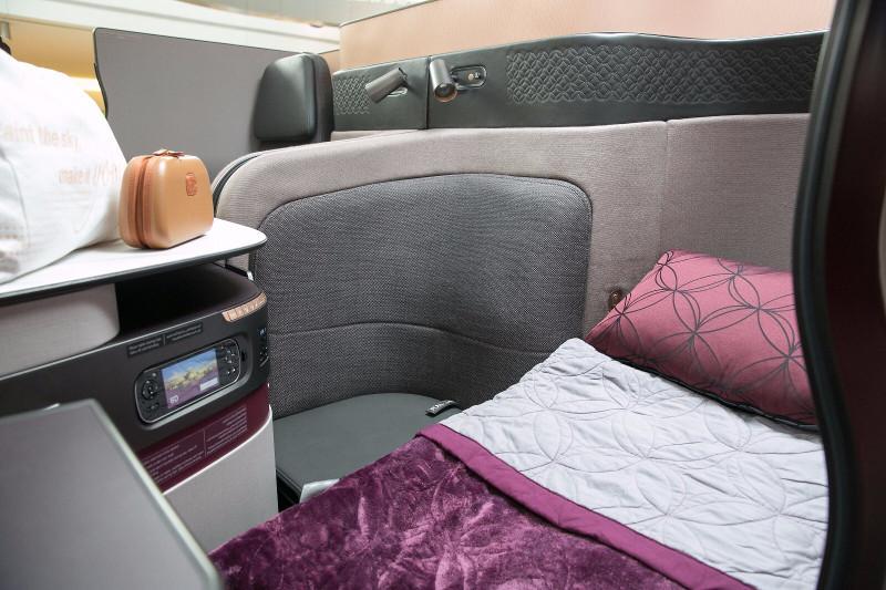 qatar airways business class bed