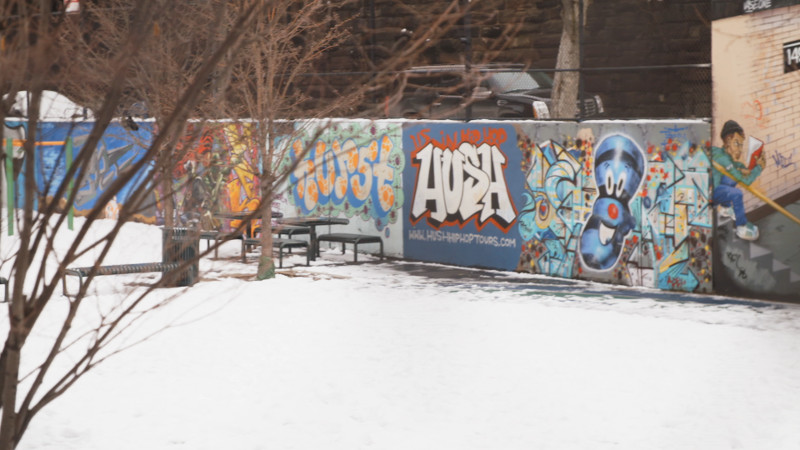 graffiti wall in the bronx nyc